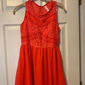 Target Coral Summer Dress - Size Small